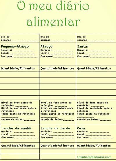 Diário Alimentar PDF