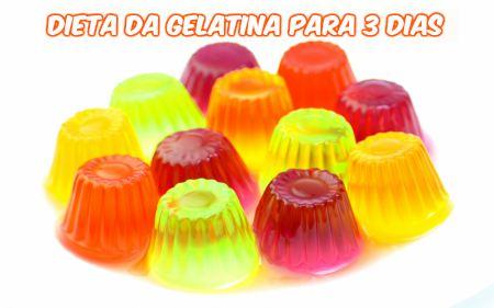 Dieta da gelatina 3 dias