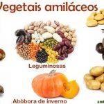 Vegetais com amido e sem amdio